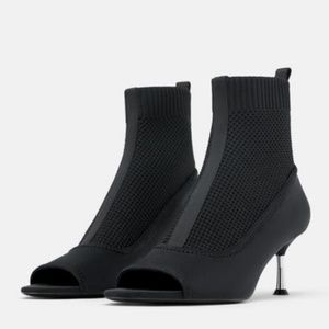Zara Ankle Pull on Stretch Sock Bootie 3114/001